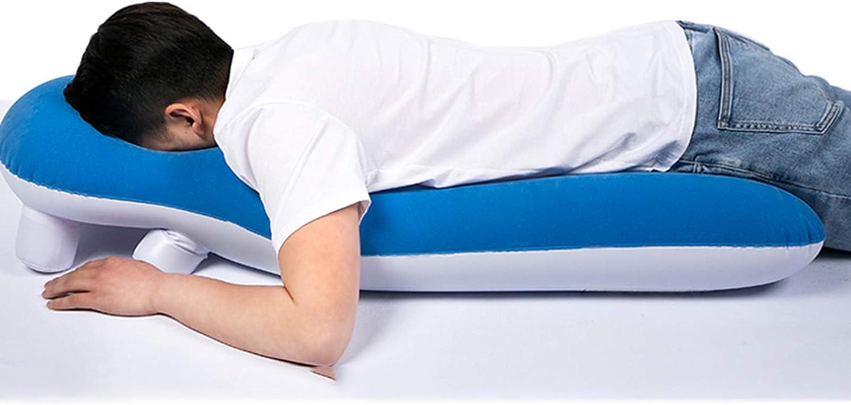 YUXINCAI Almohada para Dormir Boca Abajo Multifuncional, Agujero Macular Y Desprendimiento De Retina Después De La Cirugía Almohada Inflable De Soporte para Brazos para Dormir para Pacientes