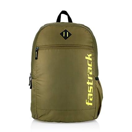 Fastrack Polyester 25 Ltrs Olive School Backpack (A0810NOL01)