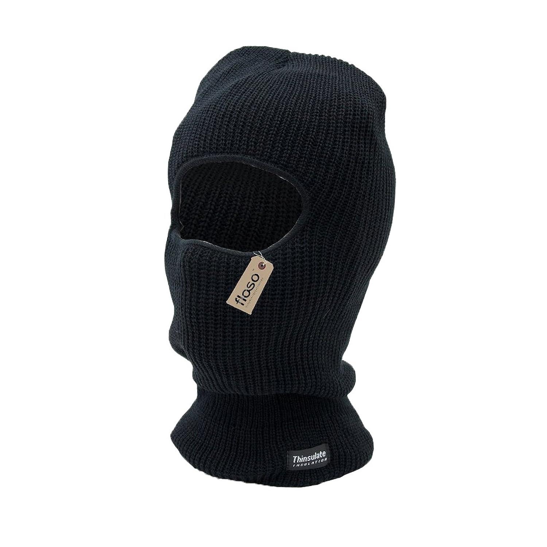 FLOSO® Herren Sturmmütze mit Öffnung für Augen, Thinsulate-Thermofütterung