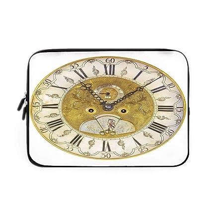 Amazon com: Clock Decor Laptop Sleeve Bag,Neoprene Sleeve