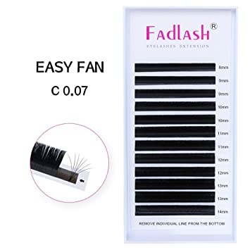 f4111ae23b2 Amazon.com : Volume Lash Extensions C Curl 0.07mm 8~14mm 5D 6D 7D Easy Fan  Volume Lashes Mixed Tray Cluster Eyelash Extensions 4D 8D 10D Rapid  Blooming ...