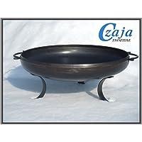 Feuerschale XL silber Stahl ✔ rund