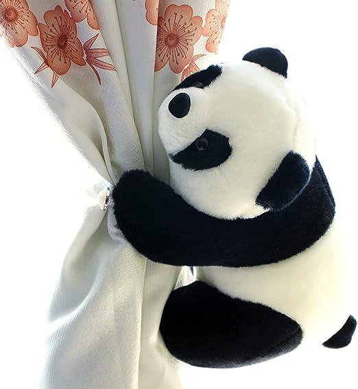 Panda SHDZKJ 1Pair Cute Animal Curtain Tiebacks for Baby Kids Nursery Bedroom Window Decoration