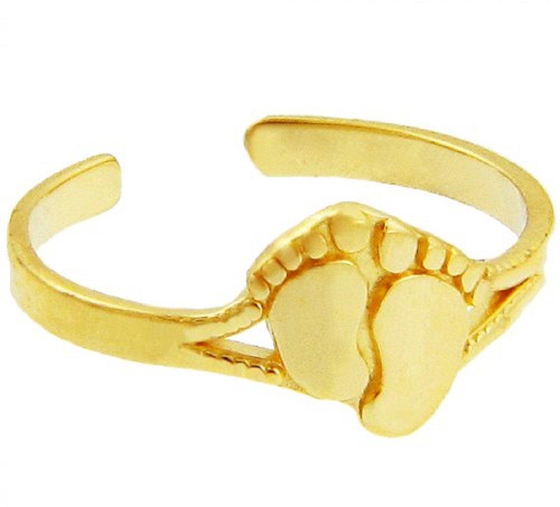 Toe Ring Gold Foot Print (10K Gold)