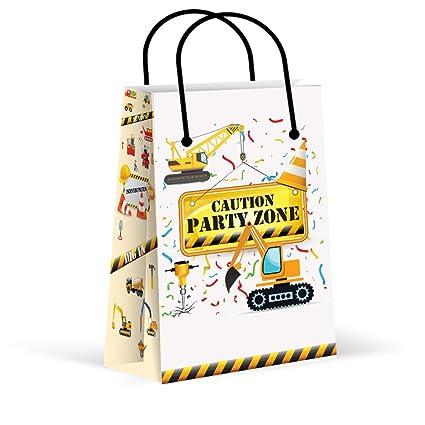 LARZN Premium Construction Party Bags Boys Favor New Treat