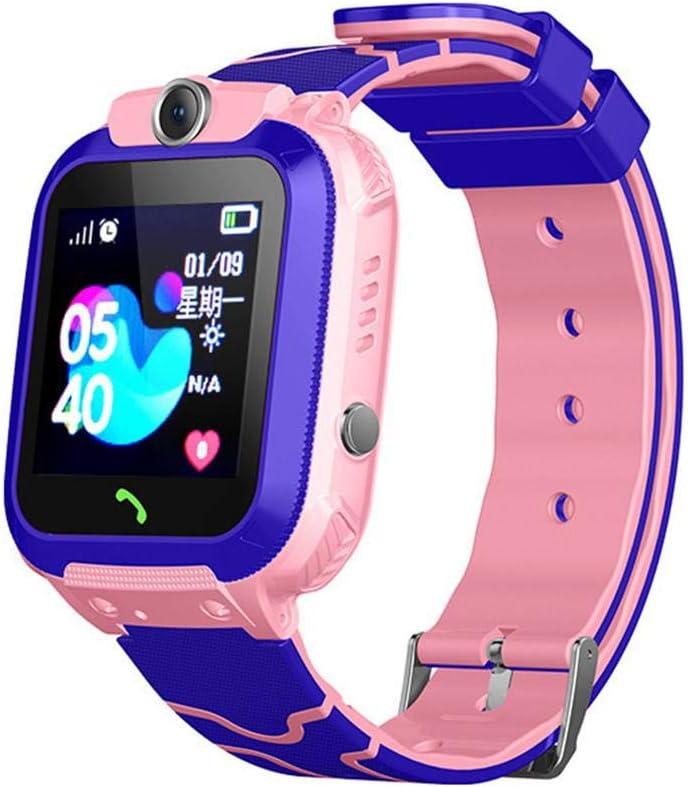 Reloj inteligente para niños, reloj inteligente impermeable con GPS, SOS, llamada bidireccional, reloj inteligente para niños con fotografía, pantalla LCD táctil de 1.44 pulgadas para niños y niñas