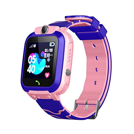LAYOPO Kids GPS Tracker Watch, Kids Smart Watch with 1.44 Inch Touch Screen/Call/GPS/Activity Tracking/Game/HD Camera, Tracker SmartWatch Phone for ...