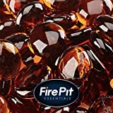 1/2'' Fire Glass Beads for Indoor or Outdoor Fire Pits or Fireplace 10 Pounds (High Desert)