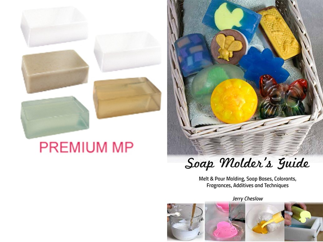 Premium Melt & Pour Soap Base Sampler Kit by Crafter's Choice - Contains Eight Different Soaps, 16LB in Total, with Cybrtrayd Soap Molder's Guide