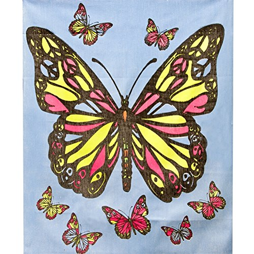 Old Glory Peace Butterfly - Blacklight Tapestry