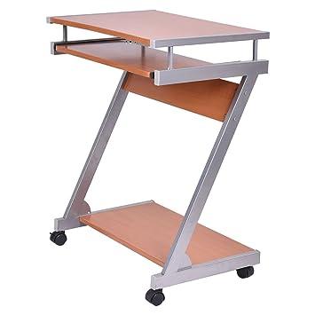 Amazoncom TangkulaPortable Rolling Computer Desk Laptop Table