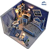 Kisoy Romantic and Cute Dollhouse Miniature DIY House Kit Creative Room Perfect DIY Gift for Friends,Lovers and Families(Dream Of Sky Angel)