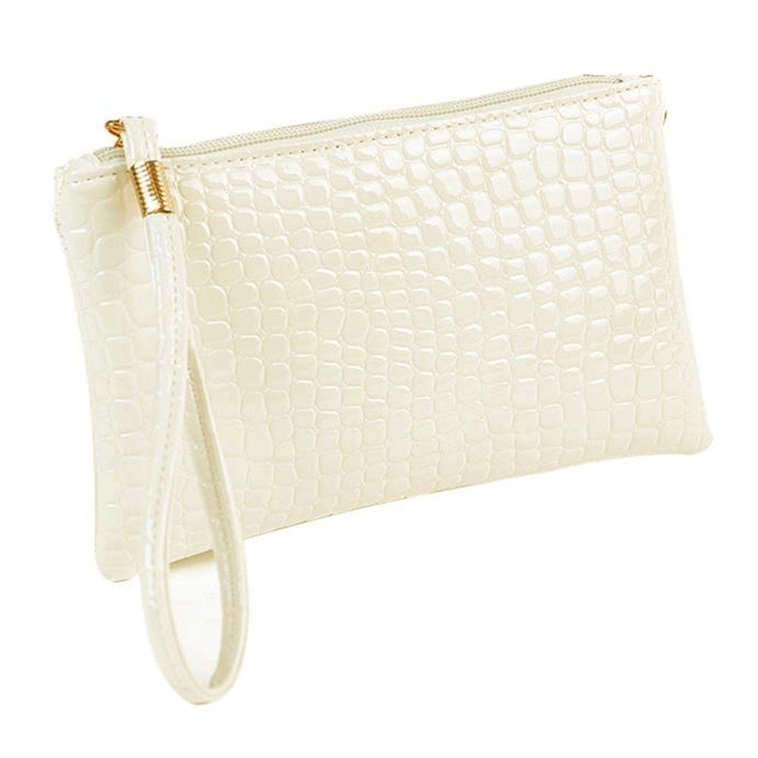Toponly 小銭入れ レディース クロコダイル レザー クラッチ ハンドバッグ  ファッション ホワイト(Fashion White) B0788WRJJ3