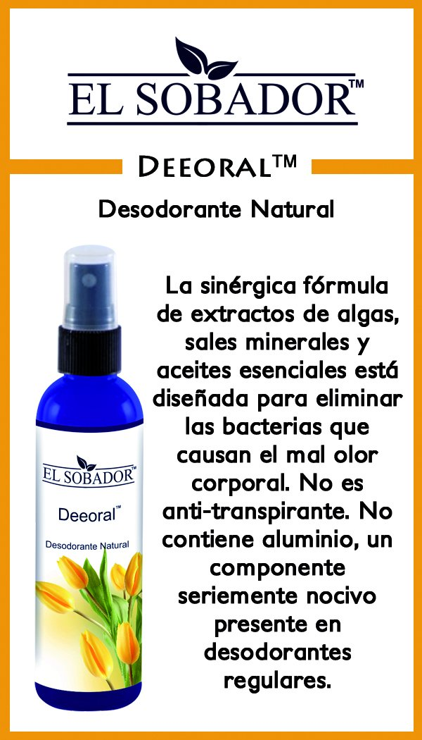 Amazon.com: Deeoral - Desodorante Natural en Spray - Sin Aluminio - Elimina el mal olor Corporal (4.46 Oz): Home & Kitchen