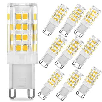 Bombillas LED G9 de bajo consumo, 6 W, superbrillantes, 380 lúmenes, equivalente