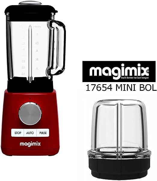 Magimix Licuadora Blender Rojo con Omaggio minibacinella angular ...