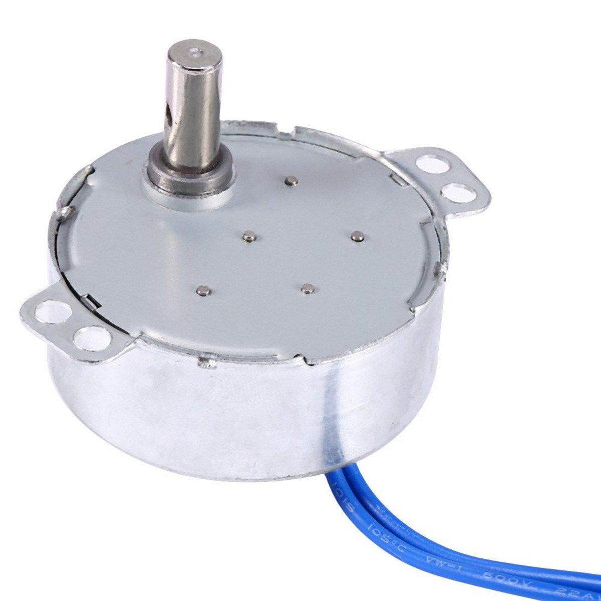 ターンテーブル同期Synchronモーター50 /60hz AC 100 ~ 127 V 4 W CCW/CW for手作り、学校プロジェクト、モデル 5-6RPM シルバー yosoo-816-3 B01KHJKECM 5-6RPM 5-6RPM