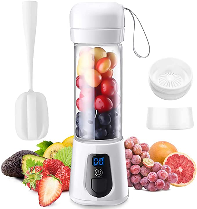Amazon.com: Wireless Portable Blender - USB Rechargeable Portable Blender for Shakes and Smoothies - Personal Smoothie Blender with Stainless Steel Blades - Cordless Travel Fruit Juicer and Crusher - 14oz: Kitchen & Dining