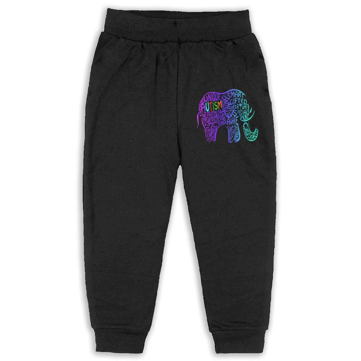 Udyi/&Jln-97 Autism Awareness Elephant Unisex Kid Toddler Pants Soft Cozy Boys /& Girls Jogger Play Pant