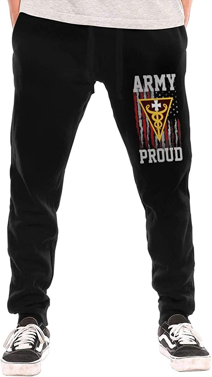 Proud 3rd Medical Command Deployment Support United States Army Mens Sweatpants for Gym Training