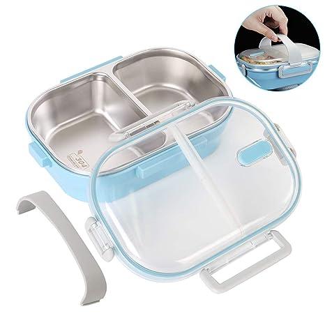 apilable Fiambrera T/érmica a prueba de fugas con asa Multicapa Lunch Box de Acero Inoxidable con Aislante Bento para Alimentos Calientes para Ni/ños Adultos