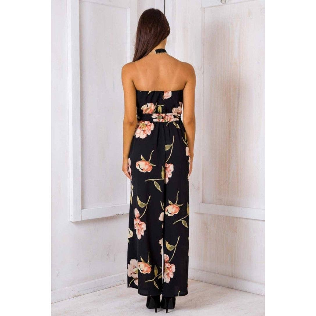 Amazon.com: Teresamoon Floral Playsuit, Women Off Shoulder Ladies Romper Long Jumpsuit Trouser: Clothing