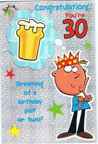 Enhorabuena eres 30 años viejo feliz cumpleaños tarjeta 7956 ...
