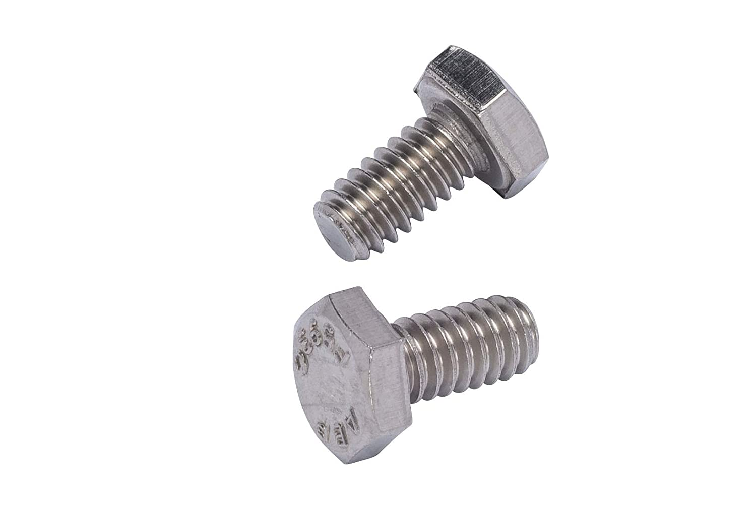 3//8-16 X 1-1//8 25pc Stainless Hex Head Bolt 18-8 Stainless Steel