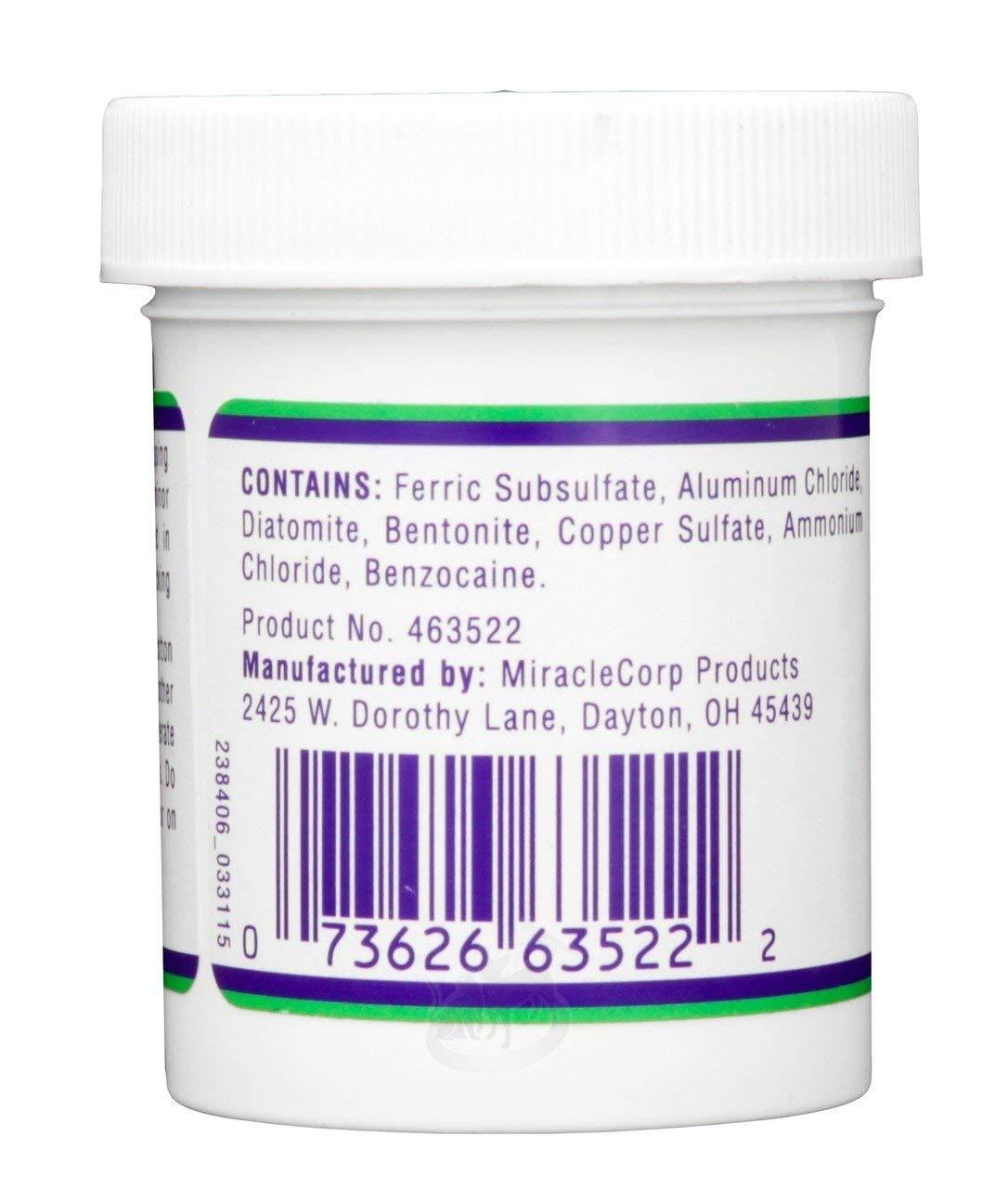 Styptic Powder Kwik Stop Benzocaine Bleed Stop 42 Gram by Styptic Powder