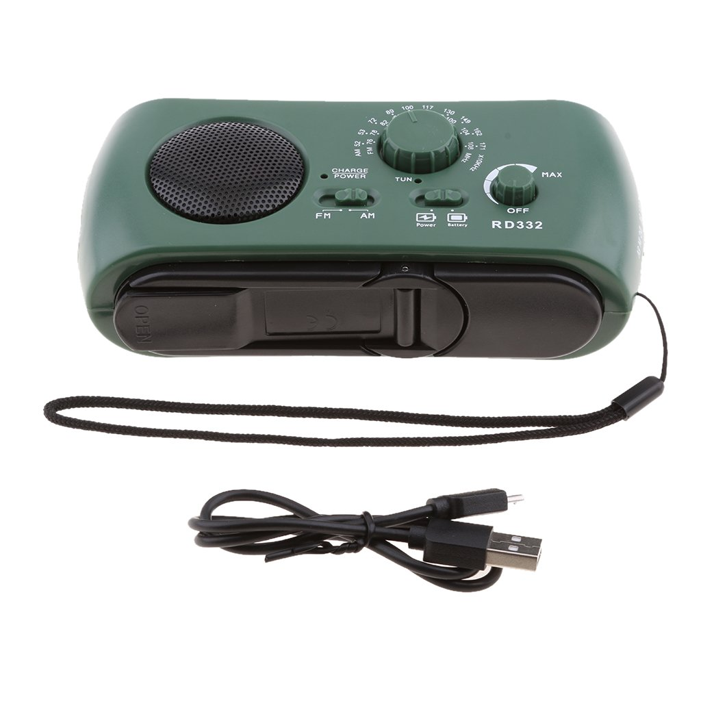 Homyl Emergency Radios Solar Hand Crank AM/FM/SW Weather Radio,3 LED Flashlight and Reading Lamp, Cellphone Charger
