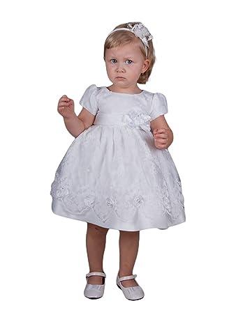 0e52f5cdd3a Boutique-Magique Robe de baptême bébé ou Petite Fille Blanche ...