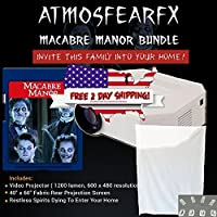 Atmostfearfx Macabre Manor SD Media Card Video Projector Bundle 1200 Lumen