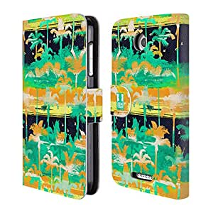 Head Case Designs Palm Trees Tropical Paradise Leather Book Wallet Case Cover for HTC Desire 510