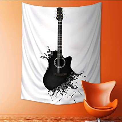 Amazon Com Auraisehome Vertical Version Tapestry Electric Guitar