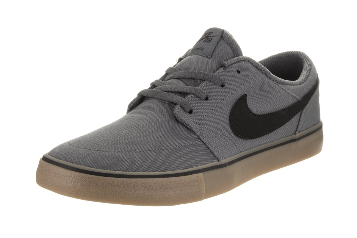 NIKE Men's Sb Portmore Ii Solar Ankle-High Canvas Skateboarding Shoe B01K3NB570 10 D(M) US|Dk Grey Black Gum Light Brown