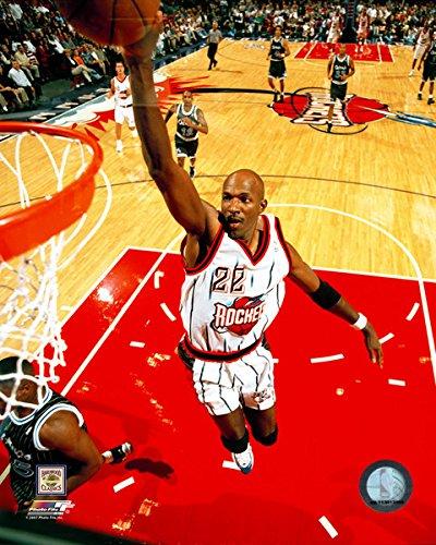 NBA Clyde Drexler Houston Rockets Action Photo (Size: 8