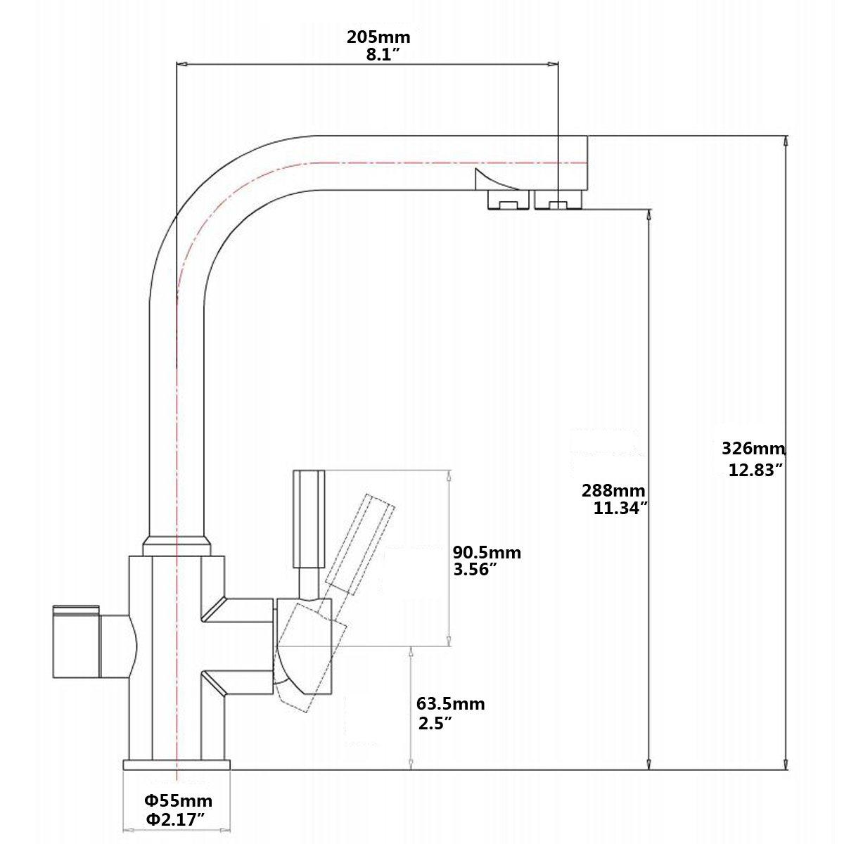 Avola Küchenarmatur Filterarmatur Combo Vielseitig und Praktisch ...