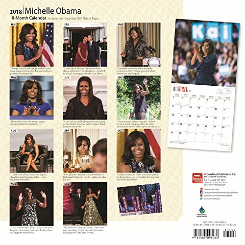 First Lady Michelle Obama 2018 Wall Calendar Photo #3