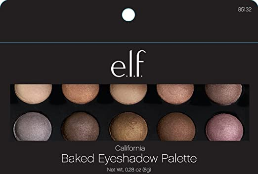 e.l.f. Baked Eyeshadow Palette, California, Net Wt 0.28oz (8g)