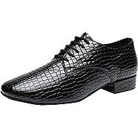 MGM-Joymod - Zapatos de Baile para Hombre con Cordones y Puntera Cerrada Salsa Tango Jazz Rumba