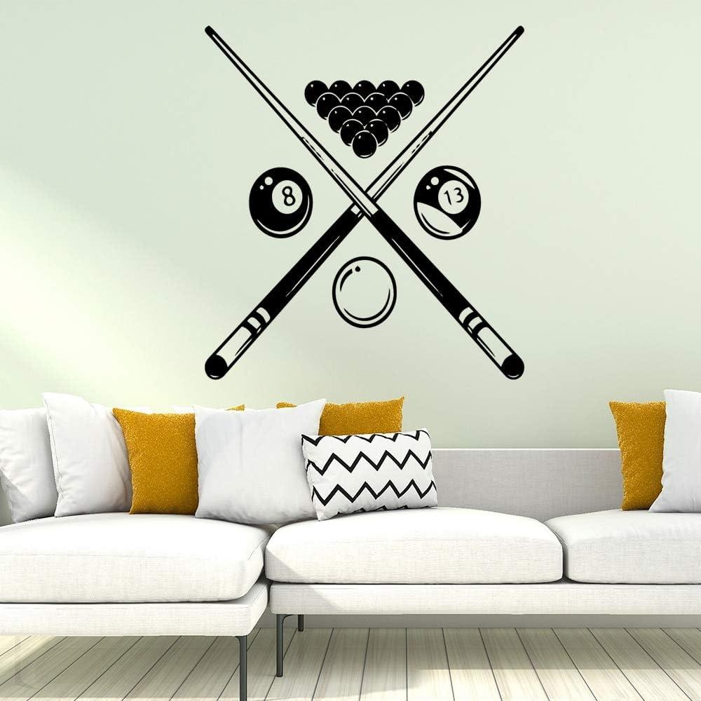 yaonuli Apliques de Arte de Pared de Billar para habitación de niños Pegatinas de Pared para Sala de Billar de vinilo45x49cm: Amazon.es: Hogar