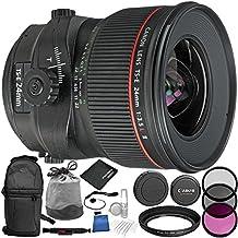 Canon TS-E 24mm f/3.5L II Tilt-Shift Lens 11PC Accessory Bundle – Includes 3 Piece Filter Kit (UV + CPL + FLD + Sling Backpack + MORE