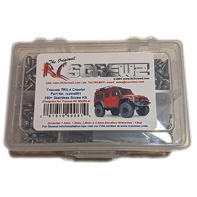 RCScrewZ Traxxas TRX-4 Crawler Stainless Steel Screw Kit (350+ Pieces) Traxxas Kit 82056-4 - tra081: Toys & Games