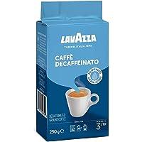 Lavazza Caffe Decaffeinated Ground Coffee, Arabica and Robusta Medium Roast, Pack of 250g