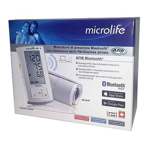 Microlife Tensiómetro Bluetooth – Medidor de presión digital de brazo con tecnología Afib, Mam y