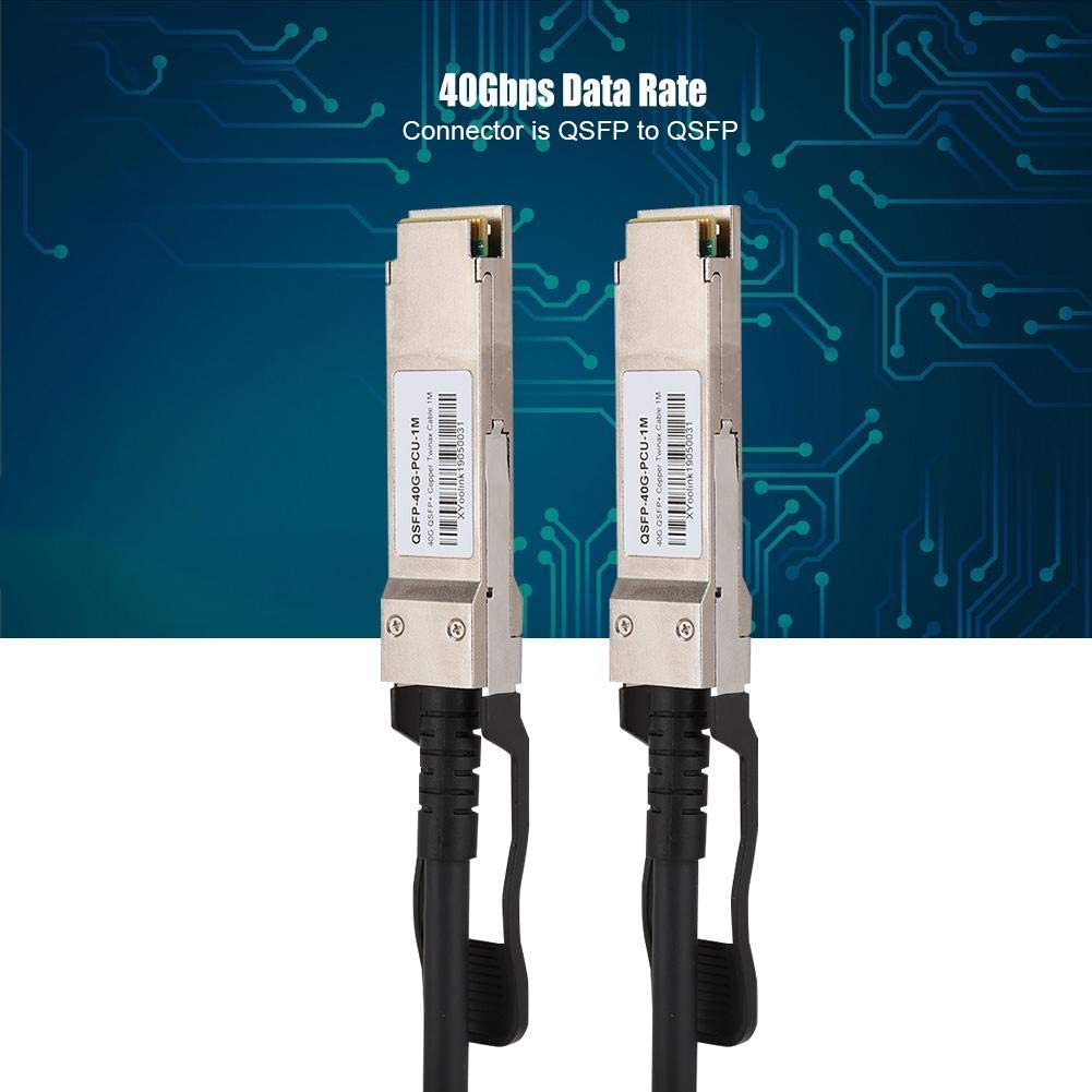 Yoidesu 40G QSFP DAC Cable,1M DAC Cable for Switches//Routers//Firewalls//Network Cards//Transceivers