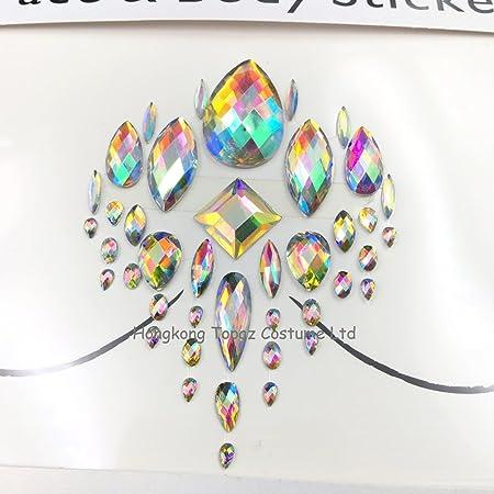 Rave Festival Rhinestone cara cuerpo joyería Stick en cristal ...