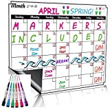 Dry Erase Monthly Calendar Set / Large Magnetic White Board &...