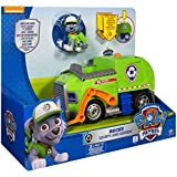 Paw Patrol - 6026257 - Figurine Rocky + Véhicule Sonore Deluxe Paw Patrol