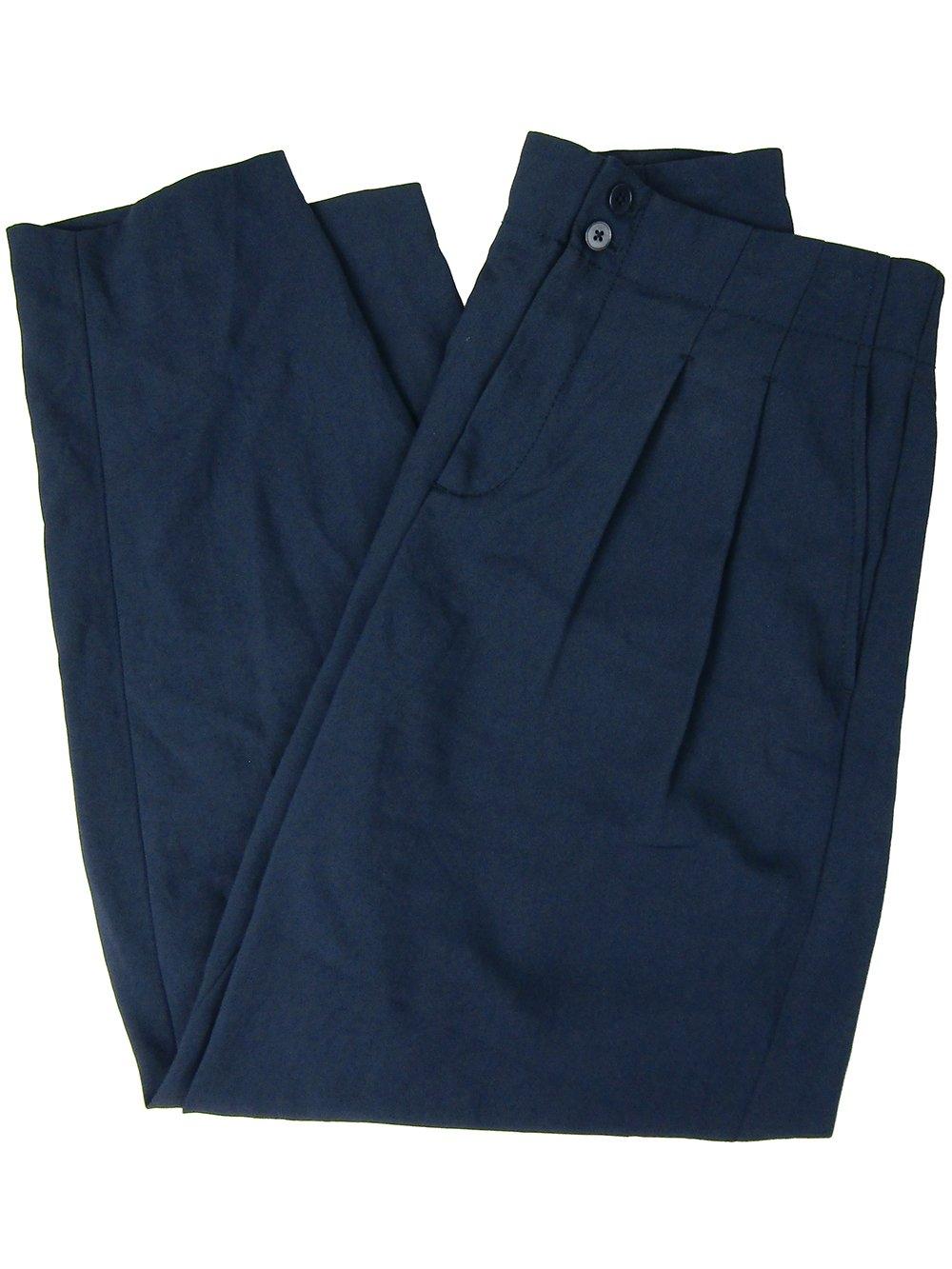 DKNY Women's Classic Fit Low Rise Ankle Pants (Dark Blue, 2)
